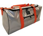 Silver & Orange Outdoor Kit Bag made from Waterproof PVC